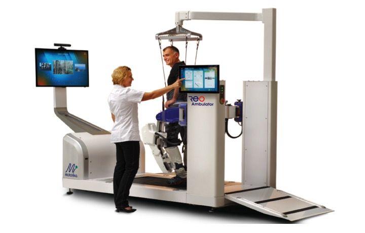 rehabiltacja robotyczna neurologiczna i ortopedyczna Origin - robot ReoAmbulator