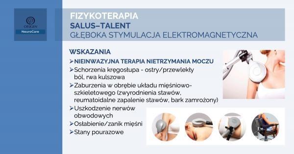 Diagnostyka i leczenie nietrzymania moczu - Nieinwazyjna terapia Salus Talent Uro