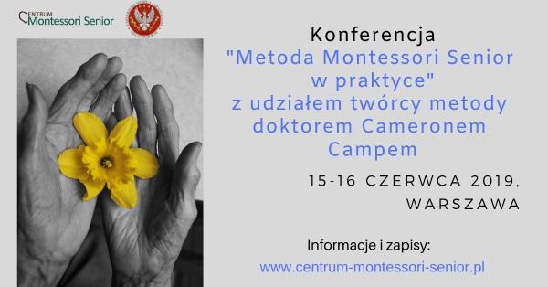 Zaproszenie na konferencję - Metoda Montessori senior w praktyce
